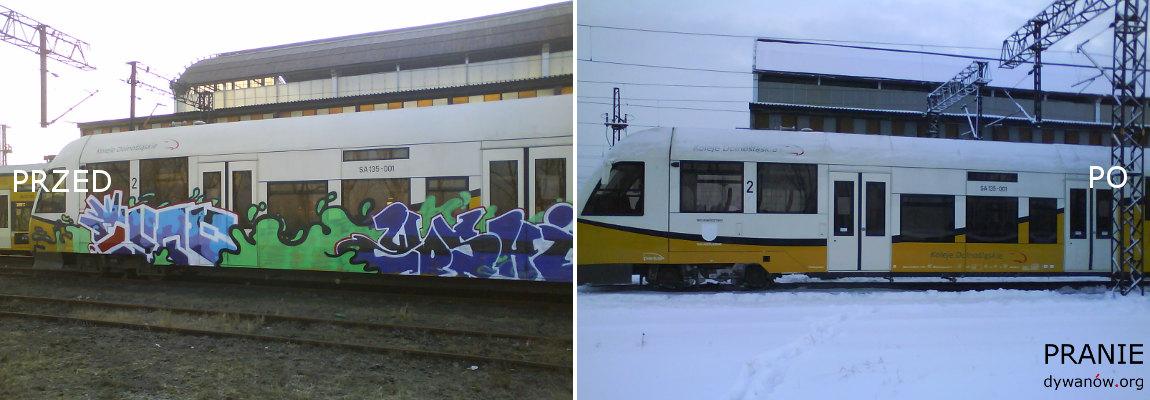 Bielawa Zmywanie Farby Pociąg